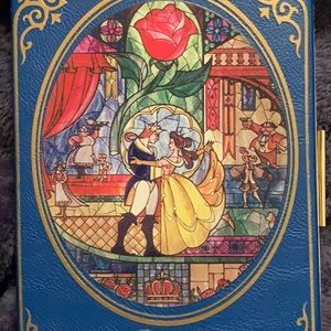 Beauty and the beast clutch purse